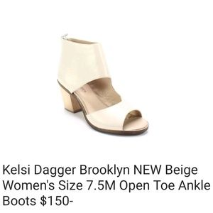 Kelsi Dagger Bkly open toe shoes ankle boots